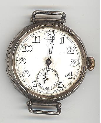 The wristwatch presented to radiographer, Corporal Walwork, by three London radiologists