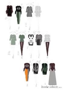 Autumn/Winter 2014 development sketches